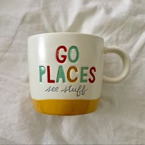 "Cute ""Go Places"" Traveller Gift Mug"